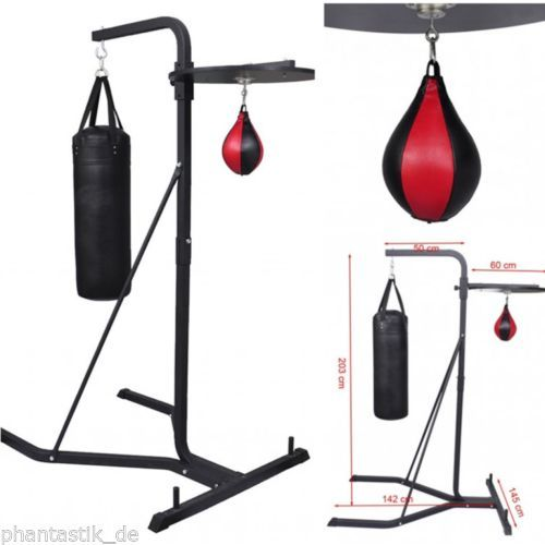 Pro #boxing #stand with punching #bag/speedball/platform robust steel for gym hom, View more on the LINK: www.zeppy.io/...