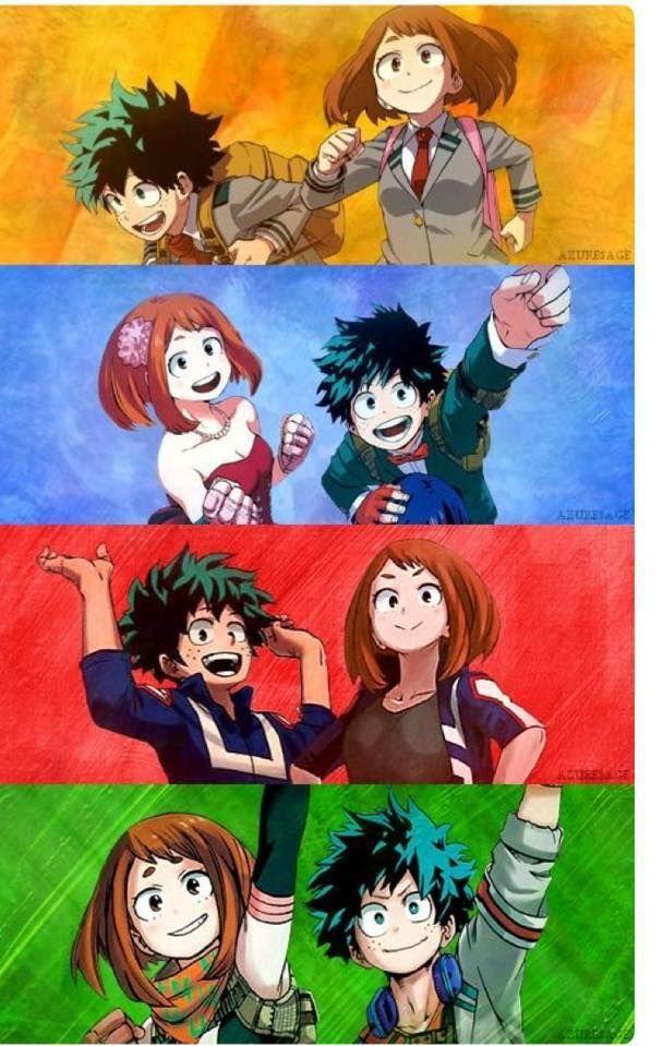 My Hero Academia Bnha Izuku Midoriya Deku Ochaco Uraraka Uravity Hero Wallpaper My Hero Boku No Hero Academia