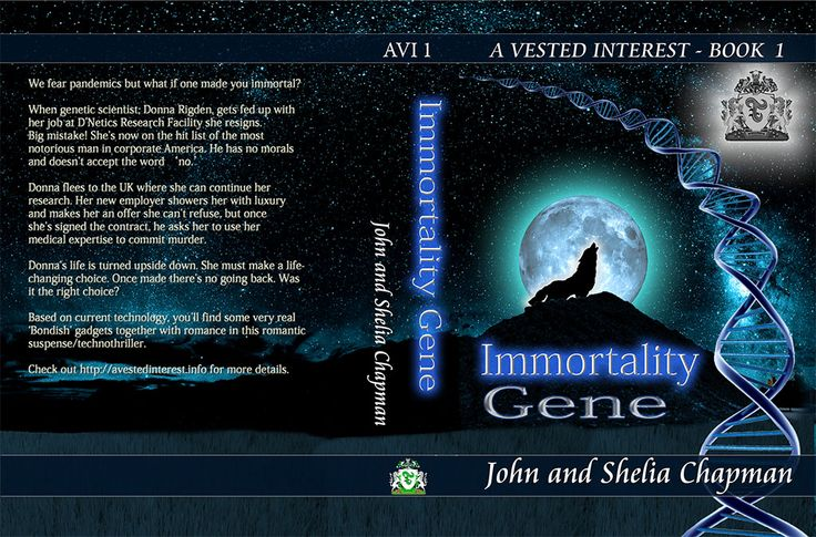I produced a new cover for the paperback edition of Immortality Gene. Normally I use PaintShop Pro for covers but this time I found I couldn't produce a detailed enough pdf file for Create Space. The text on it was flattened by PSP and looked fuzzy. I had to re-create the cover in PhotoShop. This is the result and incidentally my first attempt at producing a cover in PhotoShop.