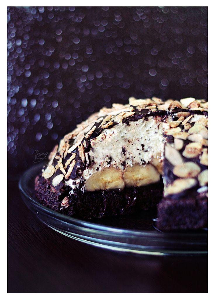 #molemound #molemoundcake #kopeckreta #ciastokopiec #migdały #karmel #almond #banana #banan #deser #dessert