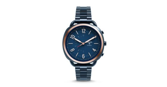 "Modernize your wristwear with Q Accomplice, our slimmest hybrid to date that looks like a watch, but acts like a smartwatch. Powered by the Fossil Q App, Fossil Q Hybrid Smartwatches are compatible with phones running Android™ OS 5.0+ or iPhone 5/iOS 9.0+.Q App is provided by Fossil Group, Inc. so your data will be stored in the USA. See the Q App Privacy Policy and Terms of Use for more information (accessible below at ""Customer Care"")."