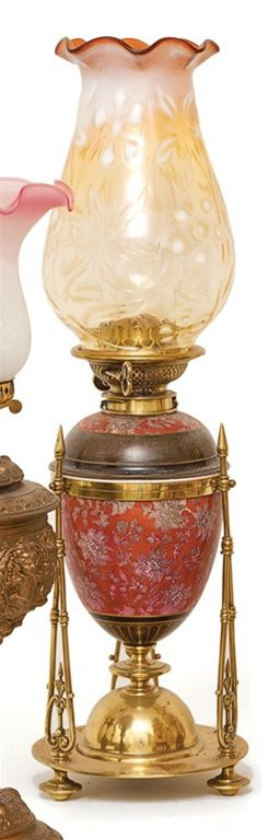 An enamelled ceramic and brass… - The Roy Francis Ryan Collection, Tamworth NSW Day 1 - Mossgreen Auctions - Antiques Reporter