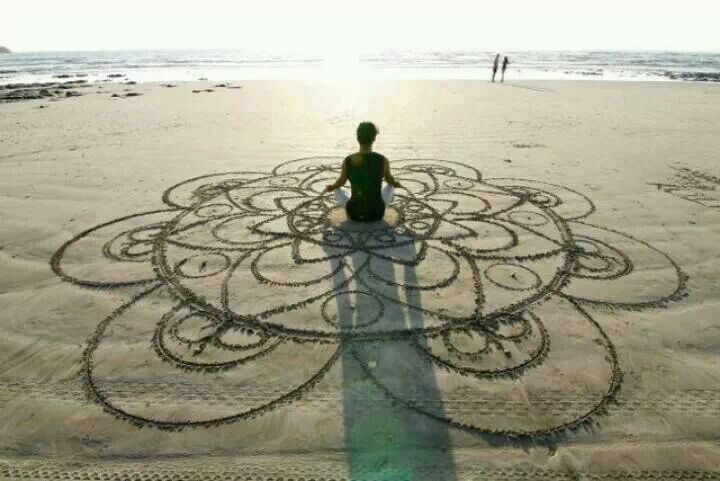 i did some of these at the beach yesterday - forgiveness mandalas...healing