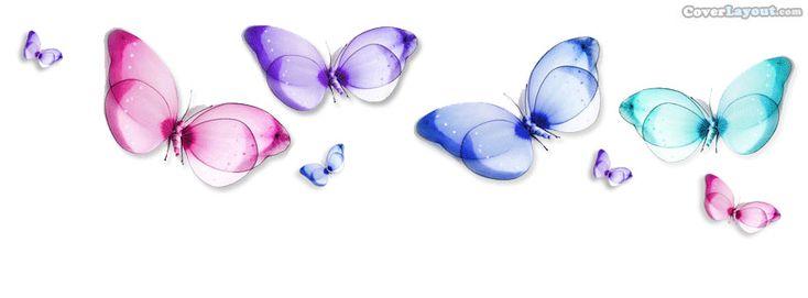 Rainbow Butterflies Facebook Cover CoverLayout.com