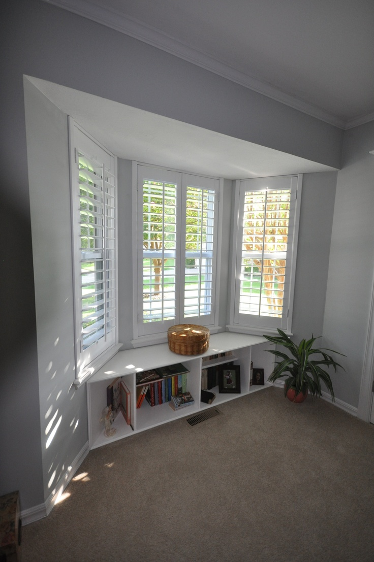 Battleridge Shutters Bay window 3 1/2 louvers Custom finish