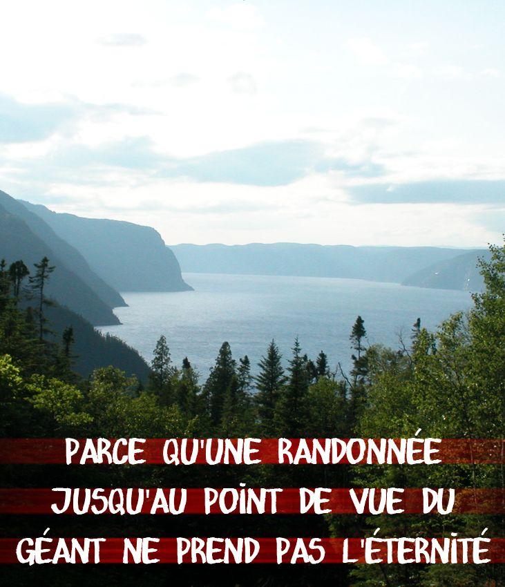 Raison #162 pour visiter le Saguenay-Lac-Saint-Jean cet été : parce qu'une randonnée jusqu'au point de vue du géant ne prend pas l'éternité. #175raison #QcOriginal