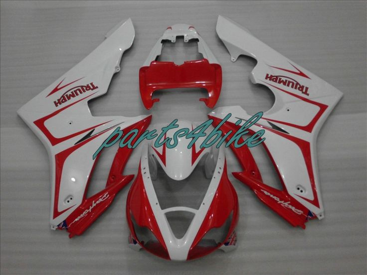 (358.05$)  Buy here  - Injection motorcycle fairing kit for Triumph daytona 675 white red fairings set daytona 675 NM09