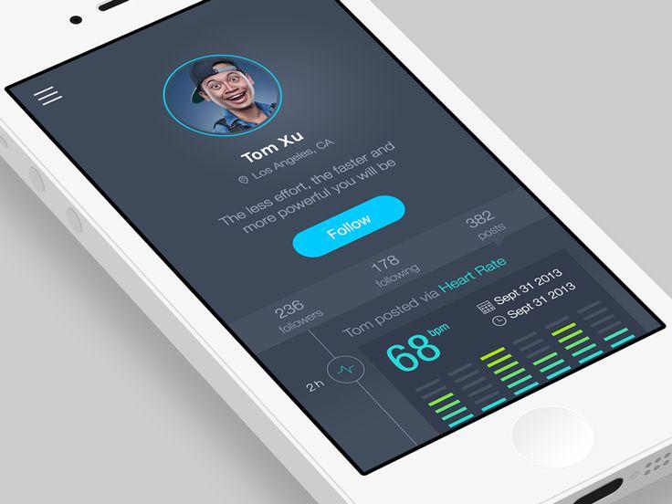 Fitness social app by emilie badin