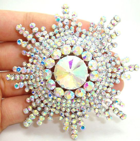 Authentic Lenora CZ Rhinestone Crystal Encrusted Handmade Solaria Decorative Collector's Bouquet Brooch - Free Shipping