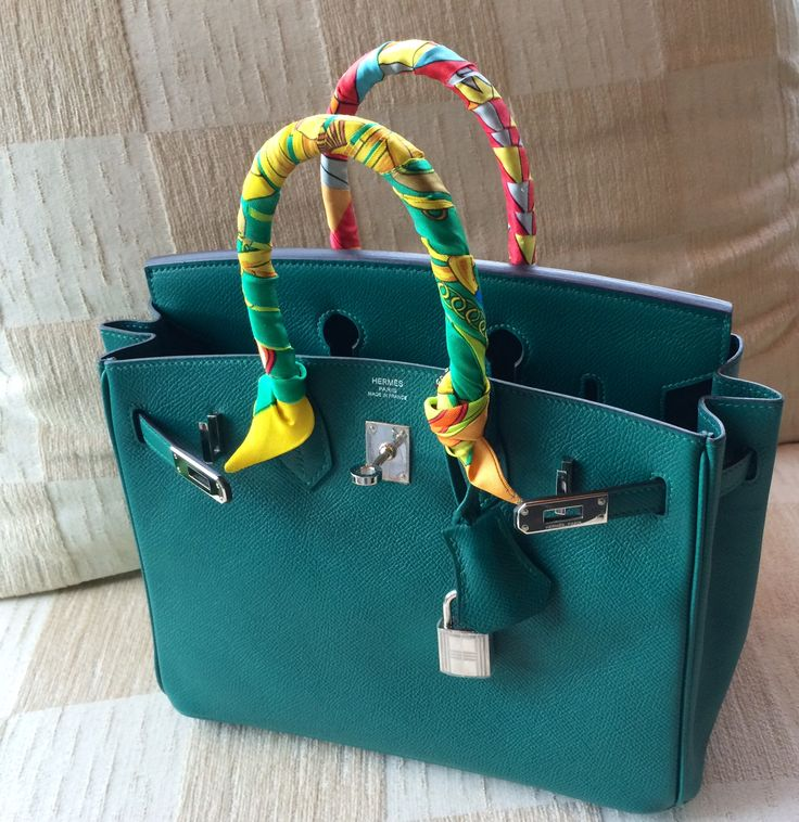 Hermes Birkin Bag With Scarf