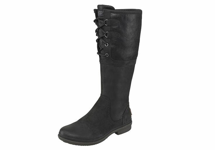 Produkttyp , Stiefel, |Schuhhöhe , Stiefel, |Materialzusammensetzung , Obermaterial: 100% Leder. Obermaterial 2: 100% Wild-/Veloursleder. Futter: 100% Lammfell. Decksohle: 100% Lammfell. Laufsohle: 100% Gummi, |Farbe , schwarz, |Herstellerfarbbezeichnung , black, |Obermaterial , Leder, |Verschlussart , Reißverschluss, Schnürung, |Laufsohle , Gummi, profiliert, | ...