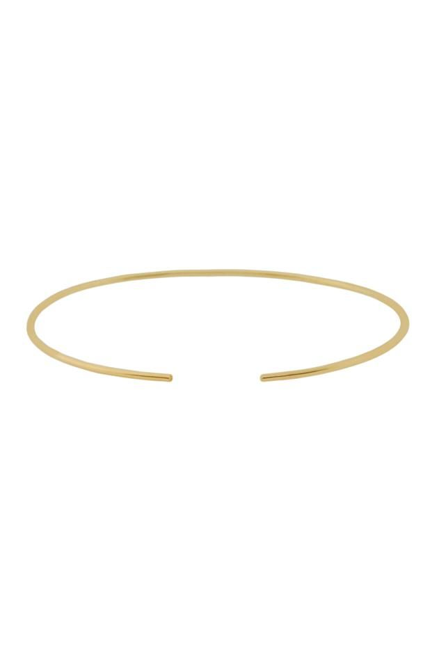 Carmen Diaz Jewelry Plain 14k Gold Cuff at ShopGoldyn.com