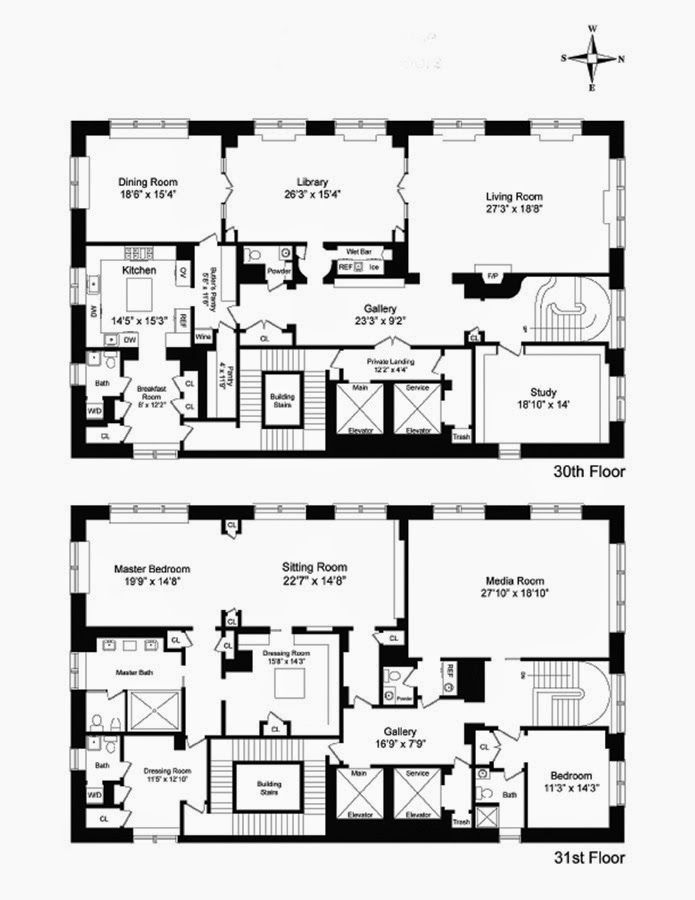Cbrowne nyc two story condo floor plan floor for Two story condo floor plans