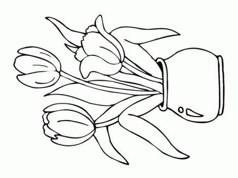 Flower Coloring Pages Printable Mirrow In The Flowers Page Picture Super Summer Fan