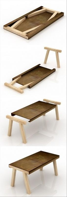 This table is easily stored and brought out when guests visit. Perfect for a tiny home. Would be nice to have a box so it wouldn't get scratched.