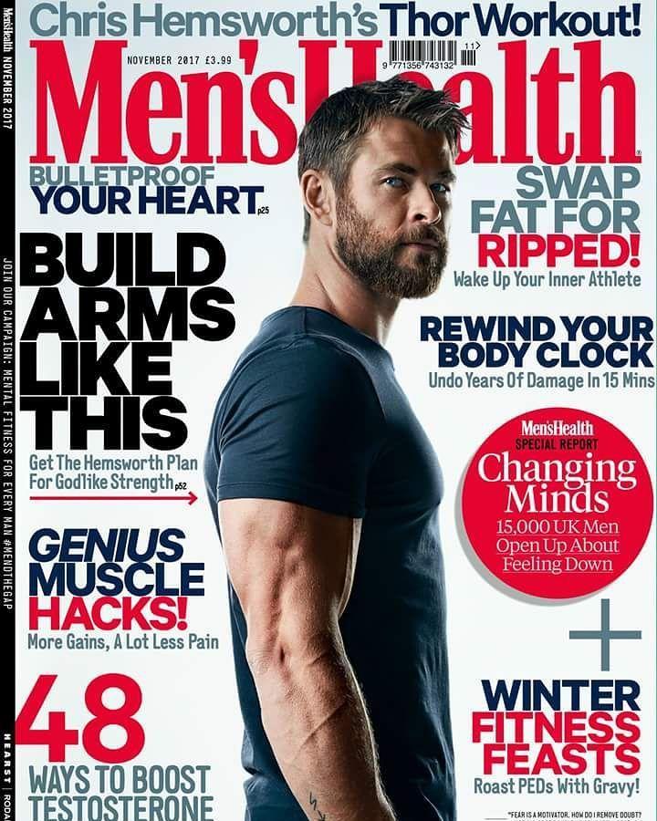 Magazine: Chris Hemsworth (@chrishemsworth) é capa da Men's Health UK