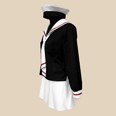 Ispirato da Cardcaptor Sakura Tomoyo Daidouji Anime Costumi Cosplay Abiti Cosplay / Uniformi scolastiche Collage Nero Maniche lunghe del 301833 2017 a €29.39