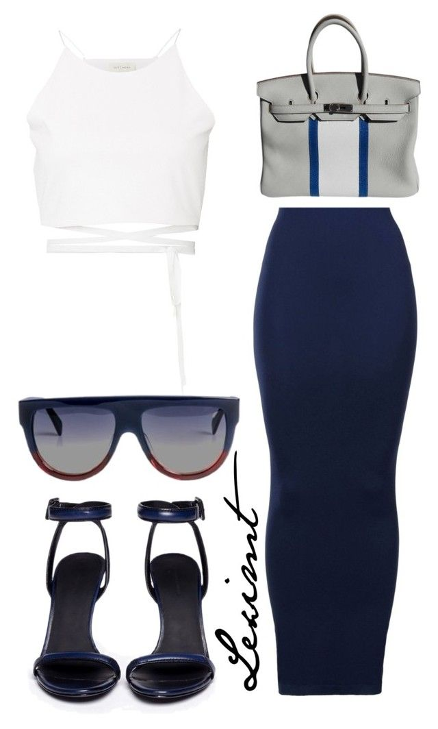 Untitled #366 by leximt on Polyvore featuring polyvore, fashion, style, Wolford, Witchery, Alexander Wang, Hermès, CÉLINE and clothing