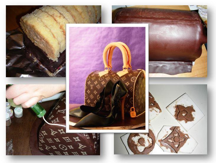 In diesem Tutorial Handtaschen Torte zeige ich Schritt für Schritt, wie man eine elegante Handtasche von Louis Vuitton ganz aus Kuchen basteln kann.