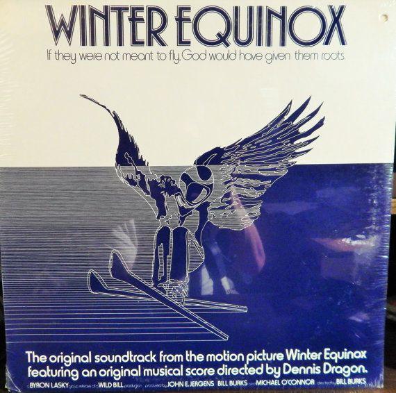"Winter Equinox 12"" Vinyl Lp MINT Original Soundtrack (1976 music Dennis Dragon) Skiing action film; sport collectible recording"