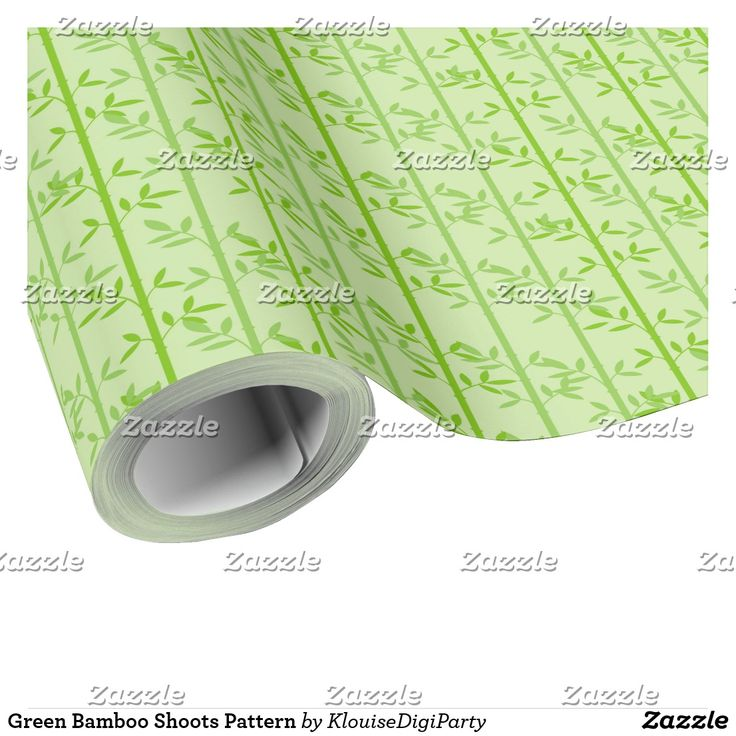 Green Bamboo Shoots Pattern Wrapping Paper
