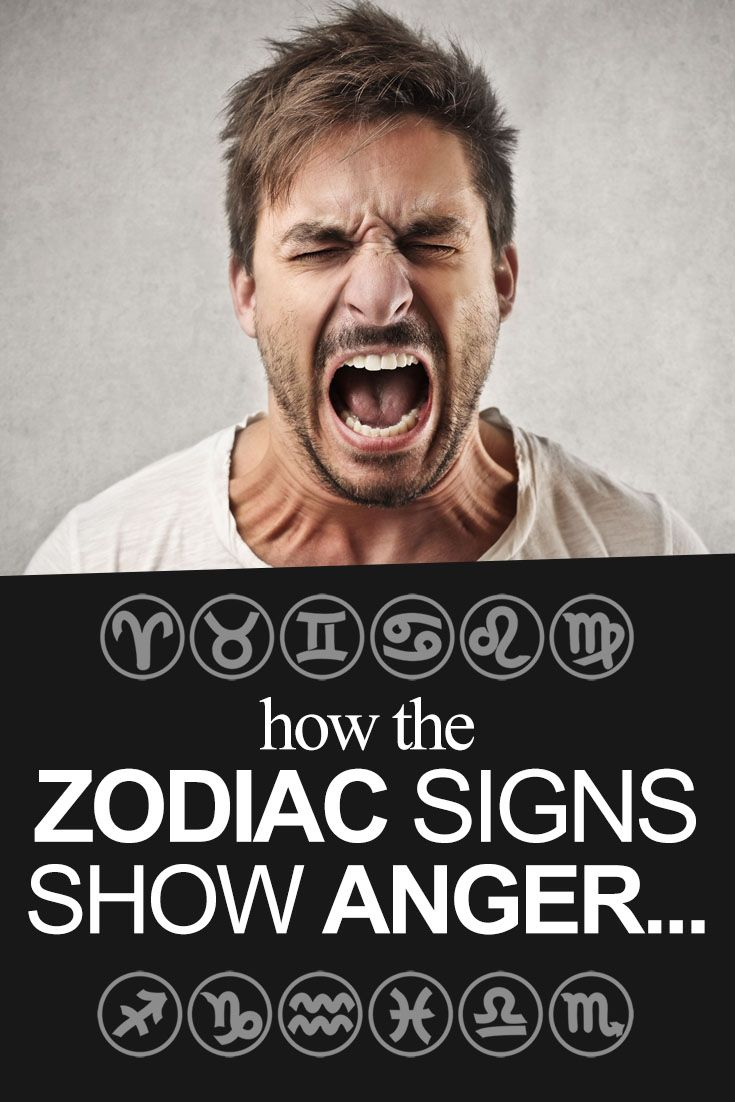 How the signs show ANGER...