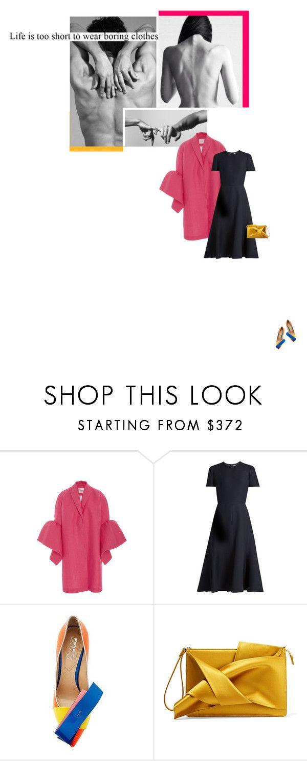 """conect."" by evidentia ❤ liked on Polyvore featuring Delpozo, Valentino, Nicholas Kirkwood and N°21"