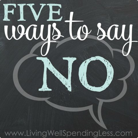 Five Ways to Say No Square