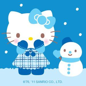 Hello Kitty Built a Snowman #HelloKitty #Snowman #Winter