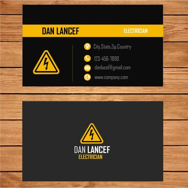 Best Design Templates For Electricians Images On Pinterest - Electrician business cards templates free