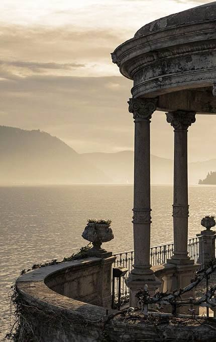 Details ...Lake Como, Italy, from the Grand Hotel Imperiale Moltrasio, photo by Roberto Roberti