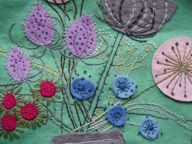 Flower Embroidery by Laughing Flowers, via Flickr