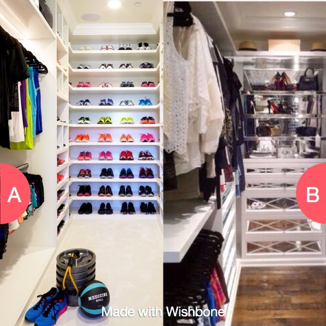 Khloe's closet or Kylie's closet? Click here to vote @ http://getwishboneapp.com/share/5865491