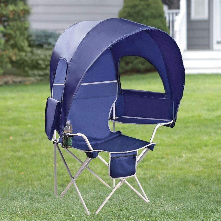Camp Chair With Canopy Ok We Get It The Sun Is Bad