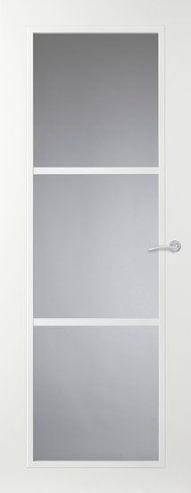 Svedex Casual binnendeur - Connect CN04 - Blank glas - en uitvoering satijnglas. Constructie is 1 glas met roeden ervoor