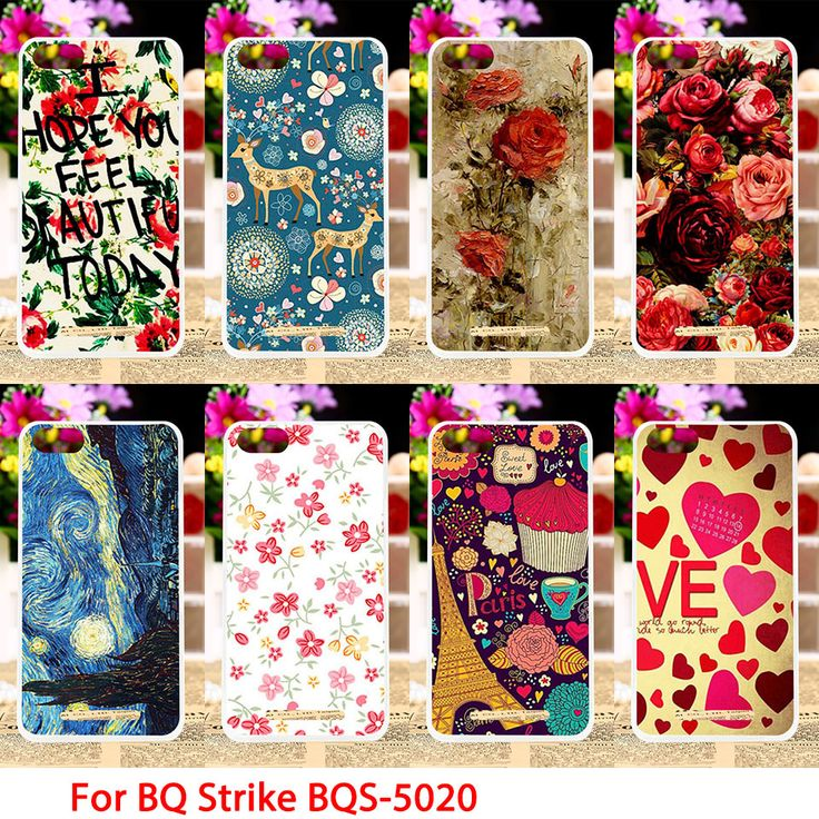 Soft TPU Phone Cases For BQ Strike BQS-5020 BQS 5020 BQS5020 Case Flowers Rose Back Covers Housings Sheaths Skins Shields Hoods