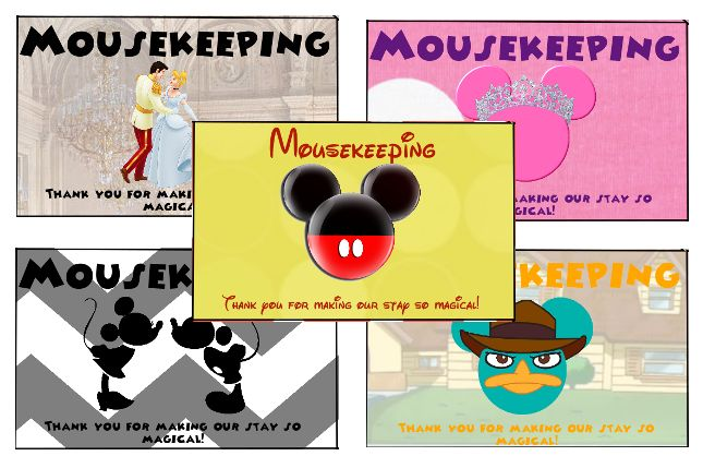 Disney Printables - Thank You Envelopes for Tipping - Mousekeeping; Dining; Magical Express; Star Wars Weekends