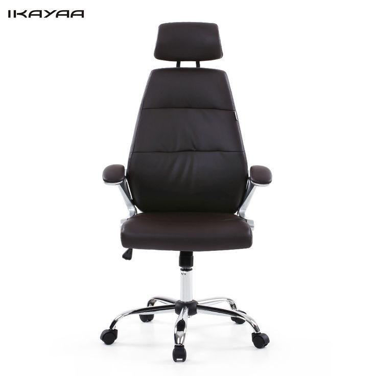 Ikayaa De Stock Office Chair Adjule Executive Stool High Back Ergonomic Swivel Computer Task Furniture