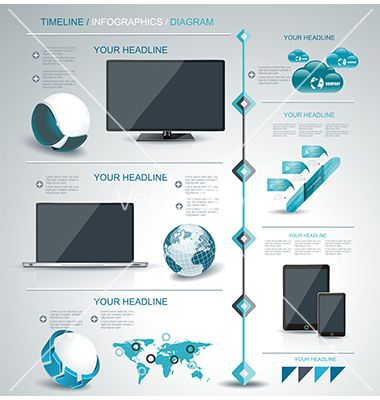 Modern infographic timeline mobile shopping vector by Success_ER on VectorStock®