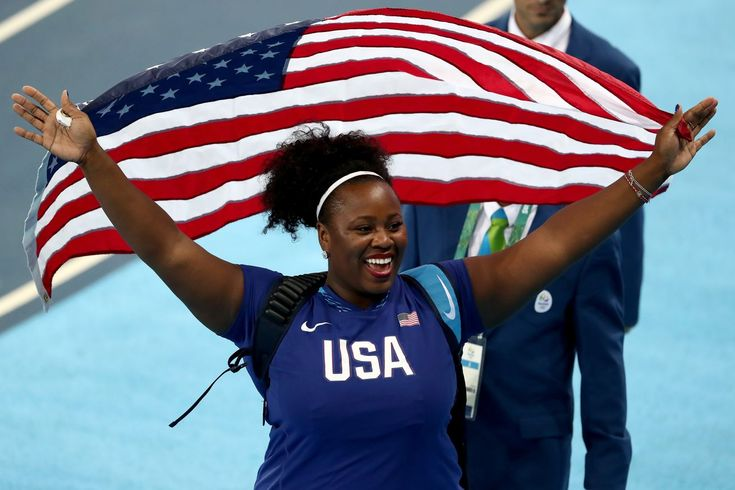 2016 Olympics, track and field results: Michelle Carter becomes first American to win women's shot put gold.