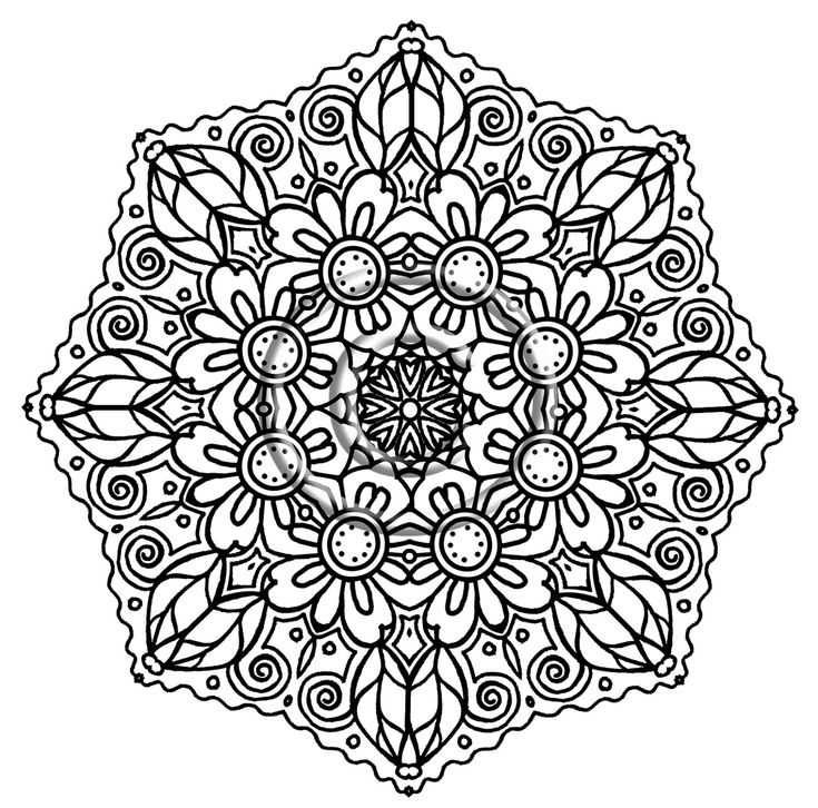 intricate mandala coloring pages free - photo#16