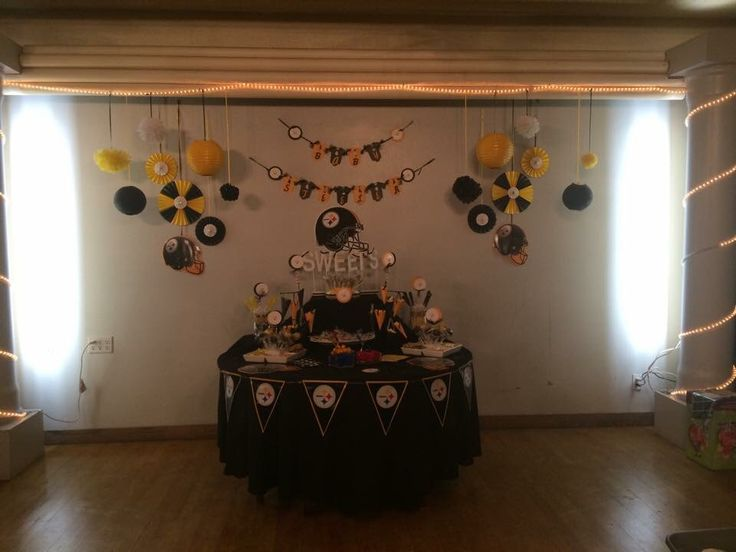 Baby Showers Pittsburgh ~ Steelers theme baby shower
