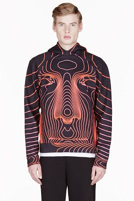 Christopher Kane Red Train Face Hoodie