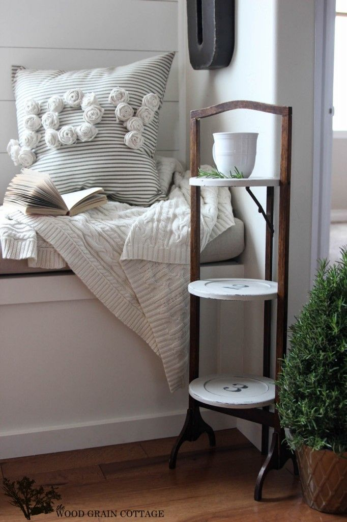 Numbered Side Table Makeover by The Wood Grain Cottage