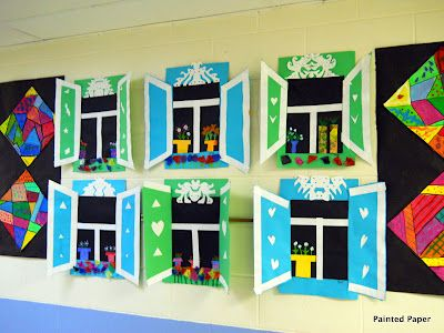 PAINTED PAPER russian cottage windows