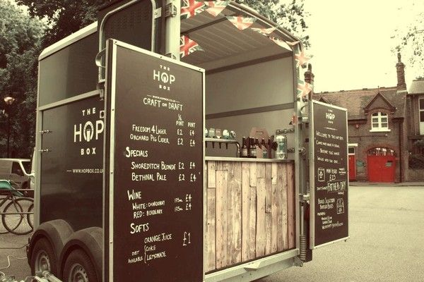 Craft Beer Catering. Consider having the doors to your trailer become the menu surface! www.popuprepublic.com