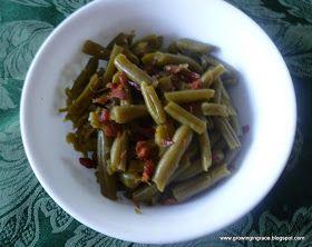 Growing in Grace: Sweet Bacony Arkansas Green Beans