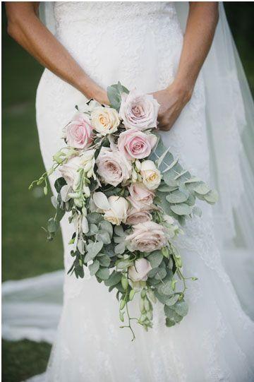 bridal bouquet - Pronovias wedding dress for an Elegant English country garden wedding in the back yard    I take You UK wedding blog