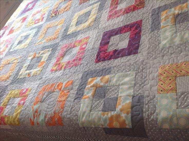 RENKA21 - Daysail Quilt v jiných látkách. Rázem úplně jiná deka. Náááádherná práce.