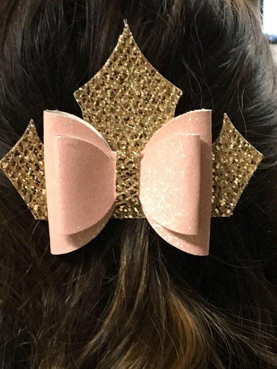Leather beauty hair bow
